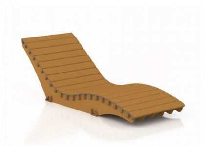 Chaise longue for Arredi in cartone